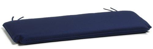 navy blue bench. Amazon.com : Oxford Garden 5-Foot Bench Cushion, Navy Blue Patio Furniture Cushions \u0026 Outdoor