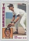 Don Mattingly RC (Rookie Card) New York Yankees (Baseball Card) 1984 Topps #8 -