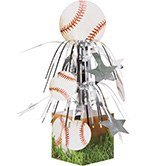 Pack of 6 Baseball Sports Fanatic Mini Cascade Foil Tabletop Centerpiece Party Decorations 8.5''