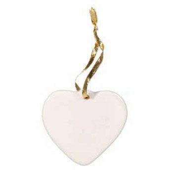 Darice DIY Crafts Porcelain Ornament Heart 3-1/2 inches  x 6 Pieces 6651-35 (Porcelain Ornaments)