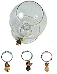 PickUp Hula Girl Wine Marker Set of 4 deal