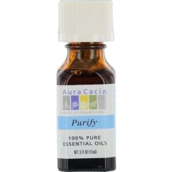 Aura Cacia Purify Aromatherapy - Aura Cacia Purify, Essential Oil Blend, 1/2 oz. bottle