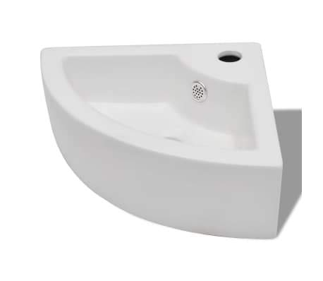 - Bathroom Basin Ceramic Undercounter Washbasin Ceramic Embedded Bathroom Sinks 17.3