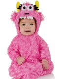 Baby Girl Pink Monster Costume (Underwraps Baby's Monster Bunting Belly-Babies, Pink, Infant)