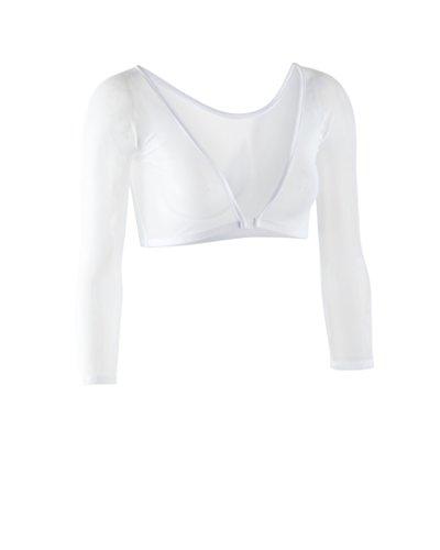 Sleevey Wonders Women's Basic 3/4 Length Slip-on Mesh Sleeves XL White by Sleevey Wonders (Image #8)