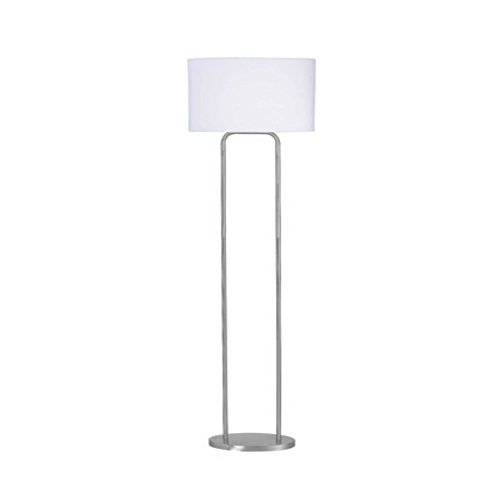 58 Inch Simple & Classic Reading Floor Lamp with White Drum Shade (58 Tall Floor Lamp)