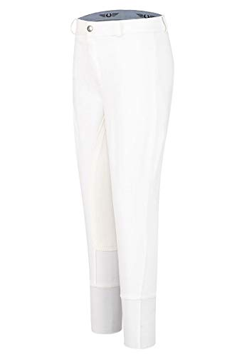 (TuffRider Kid's Cotton Full Seat Breeches, White, 14)