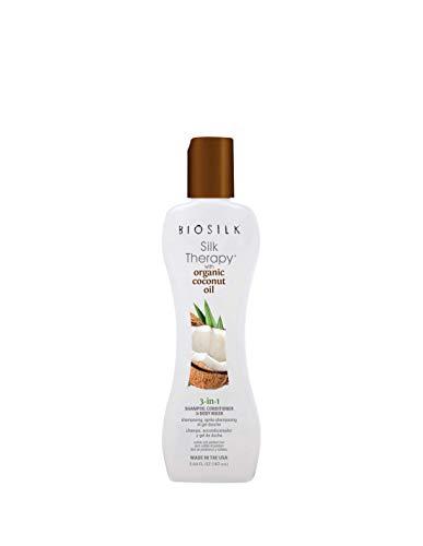 - Biosilk SILK THERAPY with ORGANIC COCONUT OIL 3- in-1 Shampoo, conditioner and Body Wash