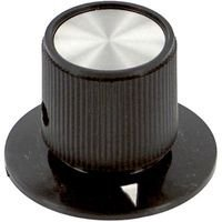 EHC 10 pieces ELECTRONIC HARDWARE 6.35MM EH71-1F2S ROUND KNOB WITH ARROW INDICATOR