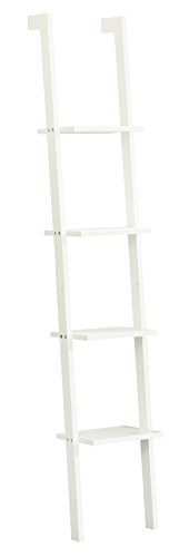 Orolay Modern Display Wall Shelf Ladder Shelf Bookcase 4 Tiers ZZWJ15 (White)