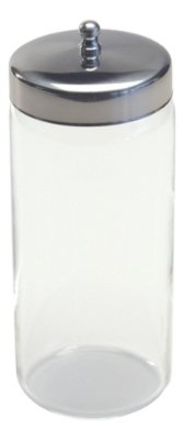 Grafco 3459P Glass Applicator Jar with Stainless Steel Cover, 6-5/8'' x 3''