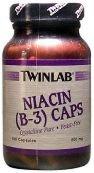 Twinlab B-3 Niacin Capsule, 500 Mg - 100 per pack -- 6 packs per case.