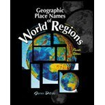 Geographic Place Names of World Regions, DiLisio, James E., 0787281239