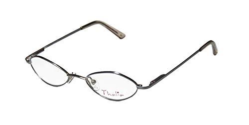 Thalia Zia Childrens/Kids/Girls Cat Eye Full-Rim Shape Spring Hinges Modern Must Have Eyeglasses/Glasses (44-16-120, Light Blue) (Blue Cat Eye Brille)