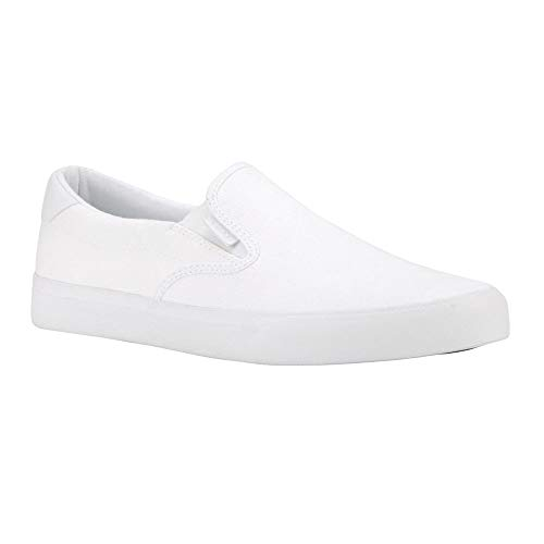 Lugz Men's Clipper Sneaker, White, 7.5 D US