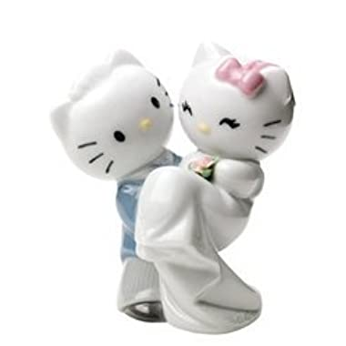 Nao by Lladro Collectible Porcelain Figurine: HELLO KITTY GETS MARRIED - 4 1/2  tall