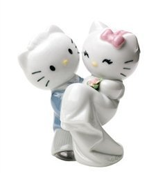 Nao by Lladro Collectible Porcelain Figurine: HELLO KITTY GETS MARRIED - 4 1/2'' tall by Lladro