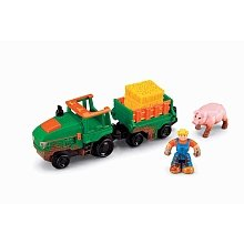 - Fisher-Price GeoTrax Lights & Sounds Tractor Playset
