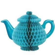 Tissue Teapot Centerpiece Alice in Wonderland Girls Birthday Party Decoration