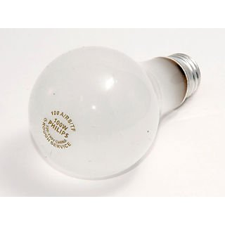 Philips 100 Watt 120 - 130 Volt A21 Rough Service Safety Coated Bulb; Frosted/Warm White, 4/Pack