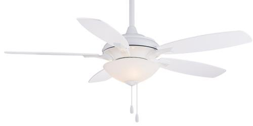 """Minka Aire F470-WH, Hilo White 52"""" Ceiling Fan with Light"""