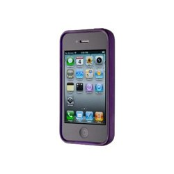 (Speck Products See-Thru Satin Soft Touch Hard Shell Case for iPhone 4 - Purple - Fits AT&T iPhone)