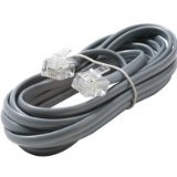 Steren 304-707SL Silver 4C Data Cable Landline Telephone Accessory, Office Central