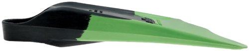 Ally Floating Swim Fins, Black/Green, Medium/Large