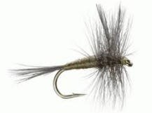 Feeder Creek Fly Fishing Trout Flies - Blue Wing Olive Dry Fly Set - One Dozen Flies - 4 Size Assortment 12,14,16,18 (3 of Each Size)
