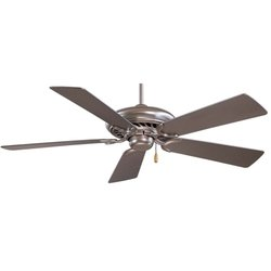 Minka Aire F568-BS Supra - 52'' Ceiling Fan, Brushed Steel Finish with Silver Blade Finish by Minka-Aire