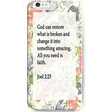UKASE Back Cover Snap on Case for iPhone 6S 4.7 inch ( 2015 Version) with Inspiration Bible Sayings God Can Restore What is Broken and Change it Into Something Amazing. All You Need Is Faith