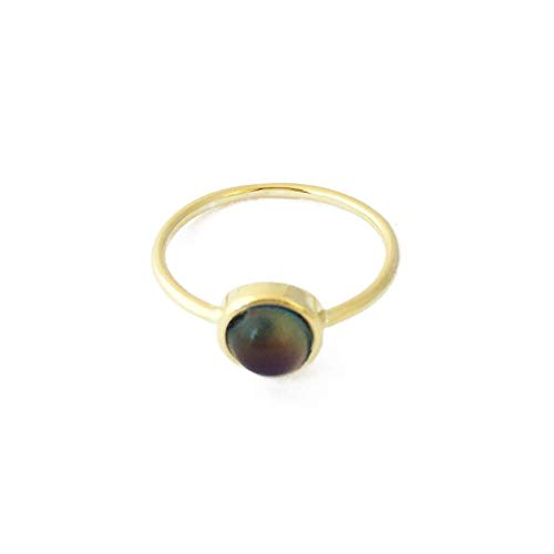 HONEYCAT Mood Ring in Gold, Rose Gold, or Silver | Minimalist, Delicate Jewelry (Gold 6)