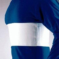 "Florida Orthopedics All Elastic Rib Belt, Female Sized, White, 6"" - Medium 37-40"""