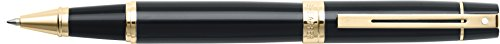 Sheaffer 300 Glossy Black Rollerball Pen with Gold Tone Trim