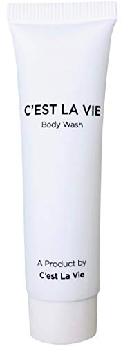 50 Bulk Pack – Fig Olive Luxury Body Wash By C EST LA VIE – 22ml 0.75 fl oz – Travel Guest Hotel Amenities – Individual Clean White Tubes in Eco Responsible Packaging. Paraben Cruelty Free