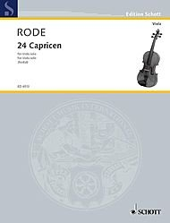 Schott 24 Caprice Etudes in the form of Etudes, in all 24 Keys (Viola) Schott Series