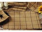 New Table Runner Burlap Check Design 100% Cotton Fabric 13 Inches X 54 Inches Linen Kitchen / Dining Table Runners