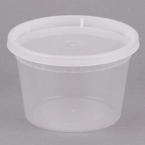 C&Z Empire (24 Set) 16oz plastic Deli Containers with Lids