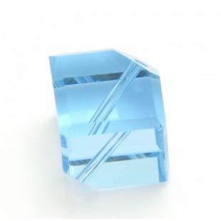 4 pcs - Aquamarine Dice Swarovski Crystal Beads 5600 8mm