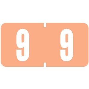 Numeric Label, Vinyl Coated, Tab Compatible, 1