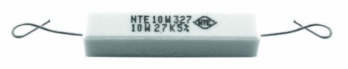 Resistor 10 Ohm Watt - NTE Electronics 10W310 Resistor, Wire Wound, Axial Leaded, 5% Tolerance, 10 Kilo Ohm Resistance, 10W, 550V (Pack of 2)
