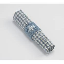 4 x Vintage Blue Gingham Napkins 100% Cotton WALTON & CO