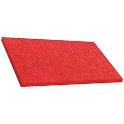 ETC Red Auto Scrub Pad 14x28 Rectangle 10 pads/case