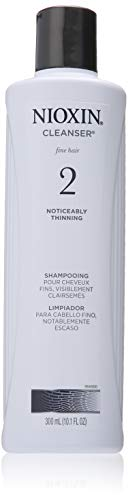 Nioxin Cleanser Shampoo System 2 for Fine Hair with Progressed Thinning, 10.1 Ounce