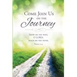 (Warner Press 18863X Welcome Folder Come Join Us On The Journey for Psalm Card44; Pack of 12)