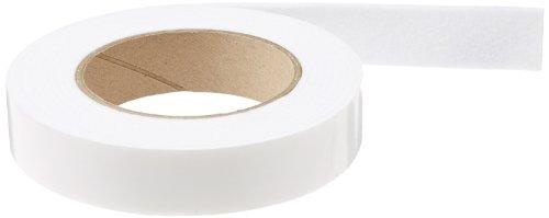 "Needled Polyester Felt Strip, Medium Firmness, , White, Adhesive Backed, 1/8"" Thickness, 1"" Width, 10' Length"
