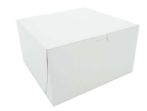 SCT 0965 Bakery Boxes, White, Paperboard, Clay Coated, Non-Window, 9w x 9l x 5h (Case of 100) by Southern Champion Tray