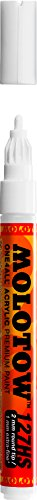 MOLOTOW One4All Acrylic Paint Markers, 2mm, White