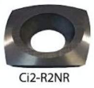 Easy Wood Tools 2600NR NEGATIVE RAKE Ci2-R2 2'' RADIUS Square Carbide Cutter
