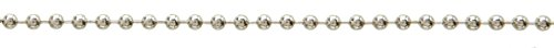 Incl Clasp - SBS Stainless Steel Ball Chain Necklace 1.5 mm Diameter Silver 1 Meter incl. 4x Chain Clasp by SBS